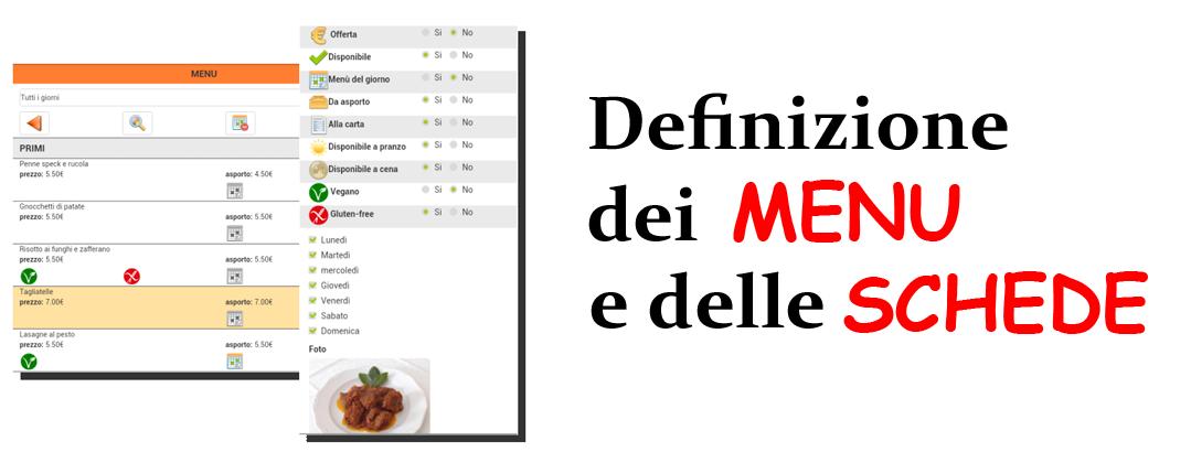 definizione menu e schede