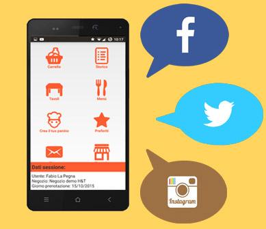 integra con sito internet, Facebook e Social